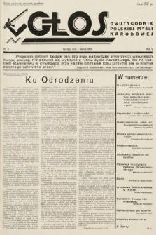 Głos : dwutygodnik polskiej myśli narodowej. 1935, nr5