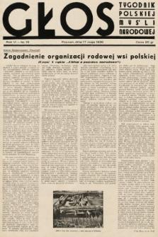 Głos : tygodnik polskiej myśli narodowej. 1936, nr16