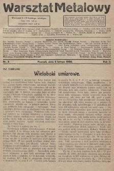 Warsztat Metalowy : dwutygodnik poświęcony zagadnieniom przemysłu i rzemiosła metalowego. 1928, nr3