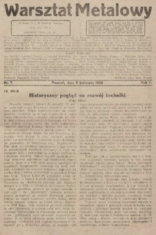 Warsztat Metalowy : dwutygodnik poświęcony zagadnieniom przemysłu i rzemiosła metalowego. 1928, nr7