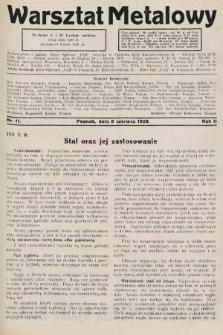 Warsztat Metalowy : dwutygodnik poświęcony zagadnieniom przemysłu i rzemiosła metalowego. 1928, nr11