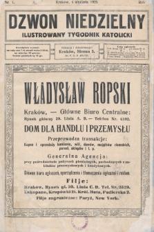 Dzwon Niedzielny : ilustrowany tygodnik katolicki. 1925, nr1