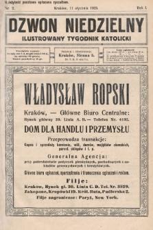 Dzwon Niedzielny : ilustrowany tygodnik katolicki. 1925, nr2