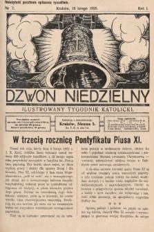 Dzwon Niedzielny : ilustrowany tygodnik katolicki. 1925, nr7