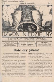 Dzwon Niedzielny : ilustrowany tygodnik katolicki. 1925, nr8
