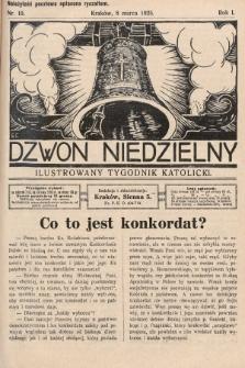 Dzwon Niedzielny : ilustrowany tygodnik katolicki. 1925, nr10
