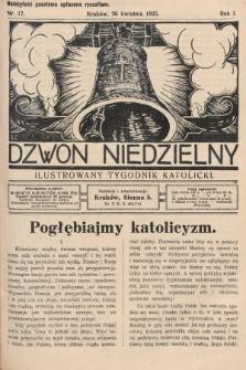 Dzwon Niedzielny : ilustrowany tygodnik katolicki. 1925, nr17