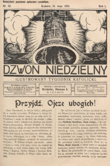 Dzwon Niedzielny : ilustrowany tygodnik katolicki. 1925, nr22