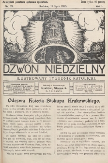 Dzwon Niedzielny : ilustrowany tygodnik katolicki. 1925, nr29