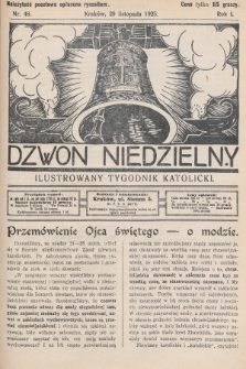 Dzwon Niedzielny : ilustrowany tygodnik katolicki. 1925, nr48