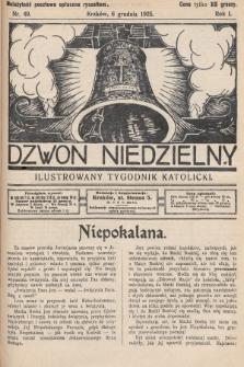 Dzwon Niedzielny : ilustrowany tygodnik katolicki. 1925, nr49