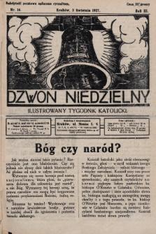 Dzwon Niedzielny : ilustrowany tygodnik katolicki. 1927, nr14