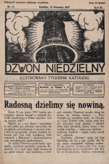 Dzwon Niedzielny : ilustrowany tygodnik katolicki. 1927, nr15