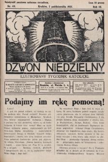 Dzwon Niedzielny : ilustrowany tygodnik katolicki. 1927, nr40
