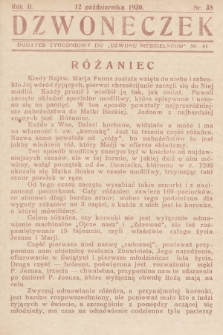"""Dzwoneczek : dodatek tygodniowy do """"Dzwonu Niedzielnego"""". 1930, nr 41"""