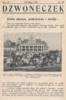 Dzwoneczek. 1931, nr30