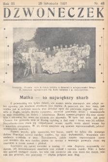 Dzwoneczek. 1931, nr48