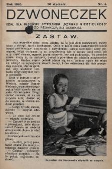 """Dzwoneczek : dział dla młodszych czytelników """"Dzwonu Niedzielnego"""". 1935, nr4"""