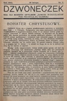 """Dzwoneczek : dział dla młodszych czytelników """"Dzwonu Niedzielnego"""". 1935, nr7"""
