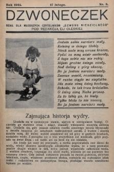 """Dzwoneczek : dział dla młodszych czytelników """"Dzwonu Niedzielnego"""". 1935, nr8"""