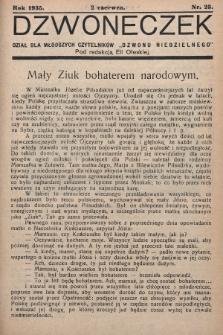 """Dzwoneczek : dział dla młodszych czytelników """"Dzwonu Niedzielnego"""". 1935, nr23"""