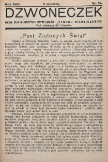 """Dzwoneczek : dział dla młodszych czytelników """"Dzwonu Niedzielnego"""". 1935, nr24"""