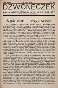 """Dzwoneczek : dział dla młodszych czytelników """"Dzwonu Niedzielnego"""". 1935, nr25"""
