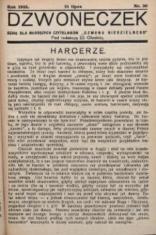 """Dzwoneczek : dział dla młodszych czytelników """"Dzwonu Niedzielnego"""". 1935, nr30"""