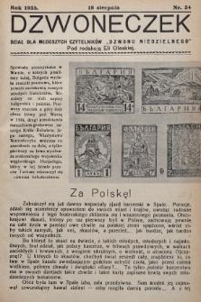"""Dzwoneczek : dział dla młodszych czytelników """"Dzwonu Niedzielnego"""". 1935, nr34"""