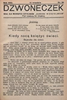 """Dzwoneczek : dział dla młodszych czytelników """"Dzwonu Niedzielnego"""". 1935, nr38"""