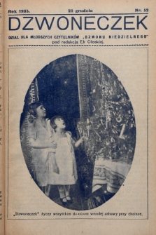 """Dzwoneczek : dział dla młodszych czytelników """"Dzwonu Niedzielnego"""". 1935, nr52"""