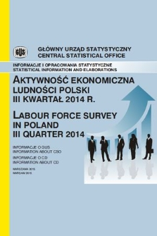 Aktywnosc Ekonomiczna Ludnosci Polski Iii Kwartal 2014