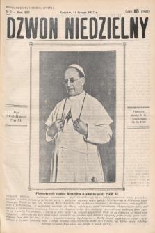 Dzwon Niedzielny. 1937, nr7