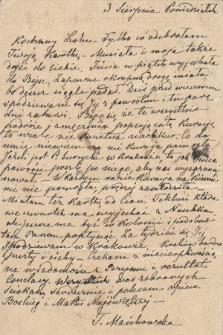 Korespondencja Leona Mańkowskiego z lat 1871-1909. T. 33, r. 1903-1907