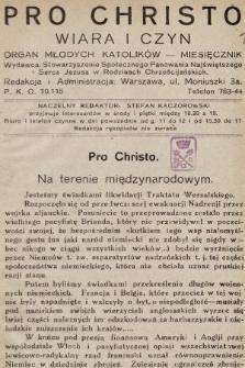 Pro Christo : wiara i czyn : organ młodych katolików. 1933 [całość]