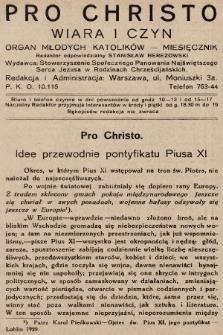 Pro Christo : wiara i czyn : organ młodych katolików. 1932, nr3