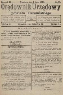 Orędownik Urzędowy Powiatu Strzelińskiego. 1926, nr51