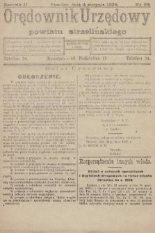 Orędownik Urzędowy Powiatu Strzelińskiego. 1926, nr59