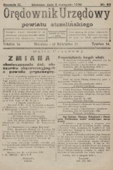 Orędownik Urzędowy Powiatu Strzelińskiego. 1926, nr85