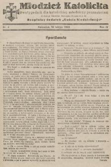 """Młodzież Katolicka : dwutygodnik dla katolickiej młodzieży pozaszkolnej : bezpłatny dodatek """"Gościa Niedzielnego"""". 1929, nr3"""