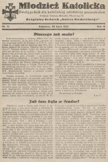 """Młodzież Katolicka : dwutygodnik dla katolickiej młodzieży pozaszkolnej : bezpłatny dodatek """"Gościa Niedzielnego"""". 1929, nr15"""