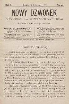 Nowy Dzwonek : czasopismo dla wszystkich katolików. 1892, nr3