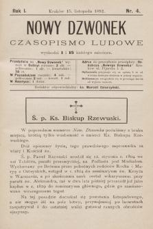 Nowy Dzwonek : czasopismo ludowe. 1892, nr4