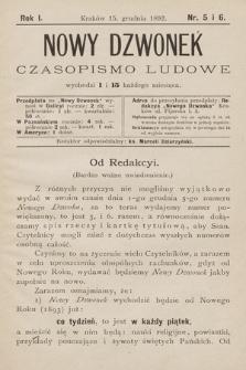 Nowy Dzwonek : czasopismo ludowe. 1892, nr5