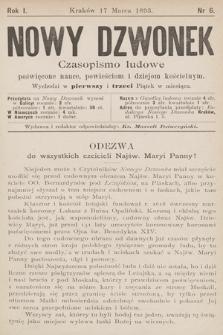 Nowy Dzwonek : czasopismo ludowe poświęcone nauce, powieściom i dziejom kościelnym. 1893, nr6