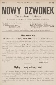 Nowy Dzwonek : czasopismo ludowe. 1893, nr12