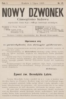 Nowy Dzwonek : czasopismo ludowe. 1893, nr13