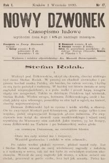 Nowy Dzwonek : czasopismo ludowe. 1893, nr17