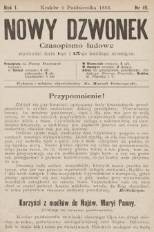 Nowy Dzwonek : czasopismo ludowe. 1893, nr19