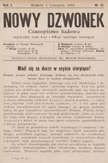 Nowy Dzwonek : czasopismo ludowe. 1893, nr21